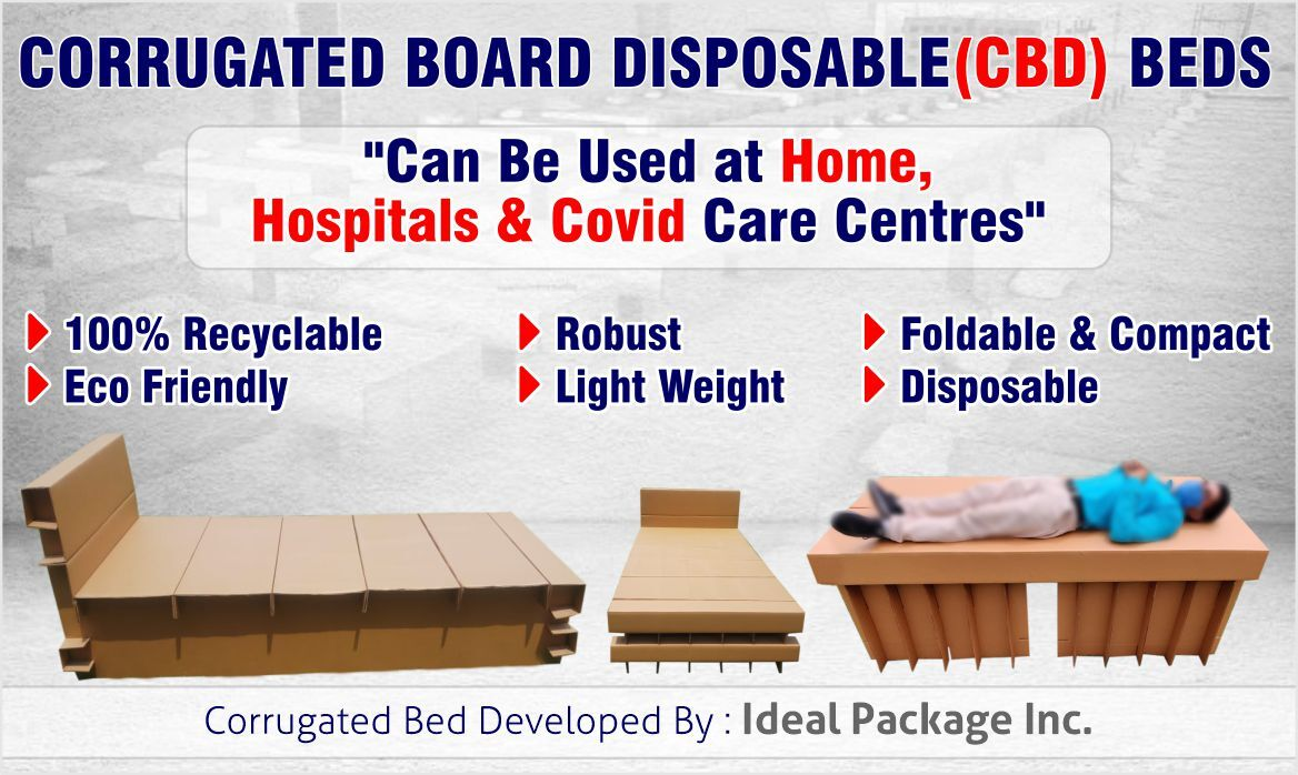 Corrugated Board Disposable Bed For Covid-19